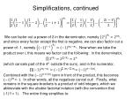simplifications continued