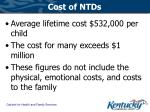 cost of ntds