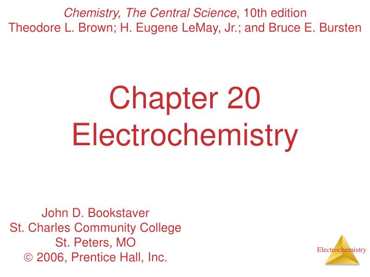 chapter 20 electrochemistry n.