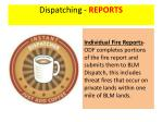 dispatching reports