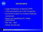 vpp efforts