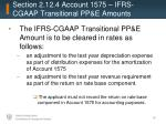 section 2 12 4 account 1575 ifrs cgaap transitional pp e amounts
