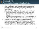 section 2 7 7 depreciation amortization depletion