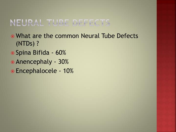 how to detect neural tube defects