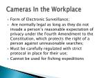 cameras in the workplace