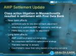 awp settlement update