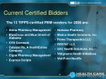 current certified bidders