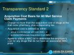 transparency standard 2