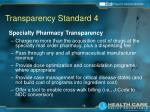 transparency standard 4