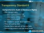 transparency standard 6