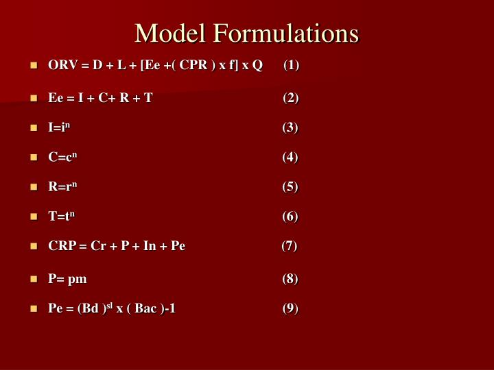 Model Formulations