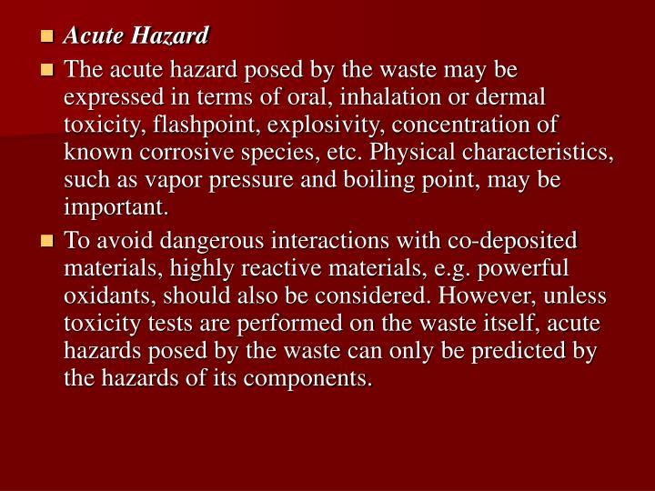 Acute Hazard
