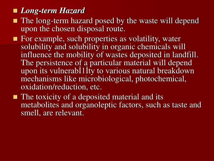 Long-term Hazard