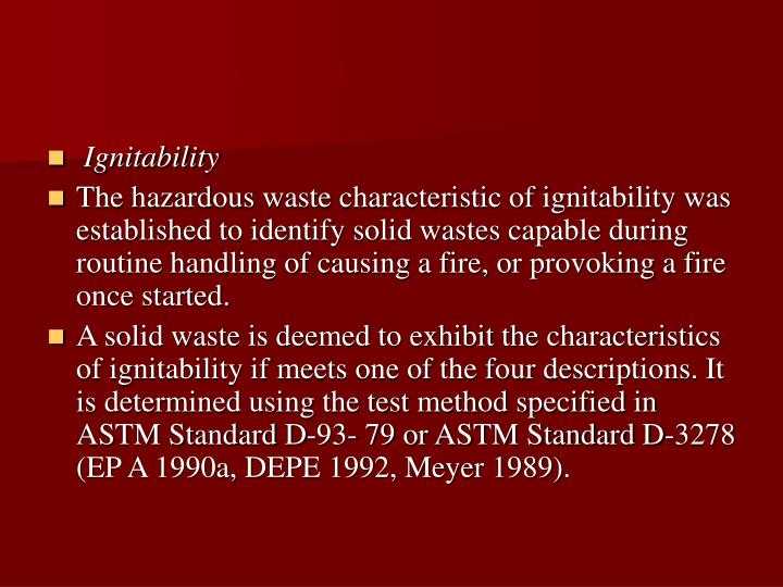 Ignitability
