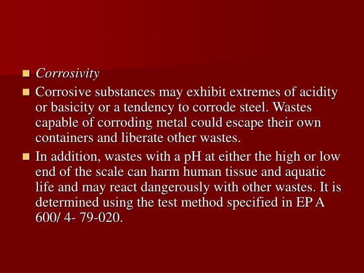 Corrosivity