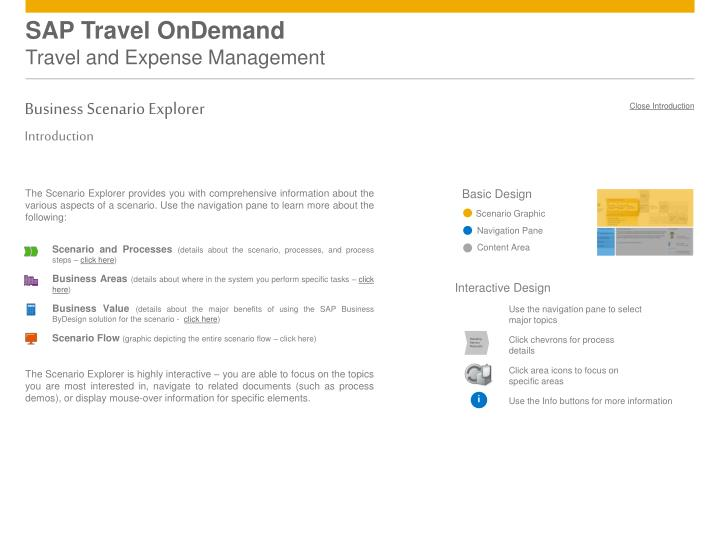 sap travel ondemand travel and expense management n.