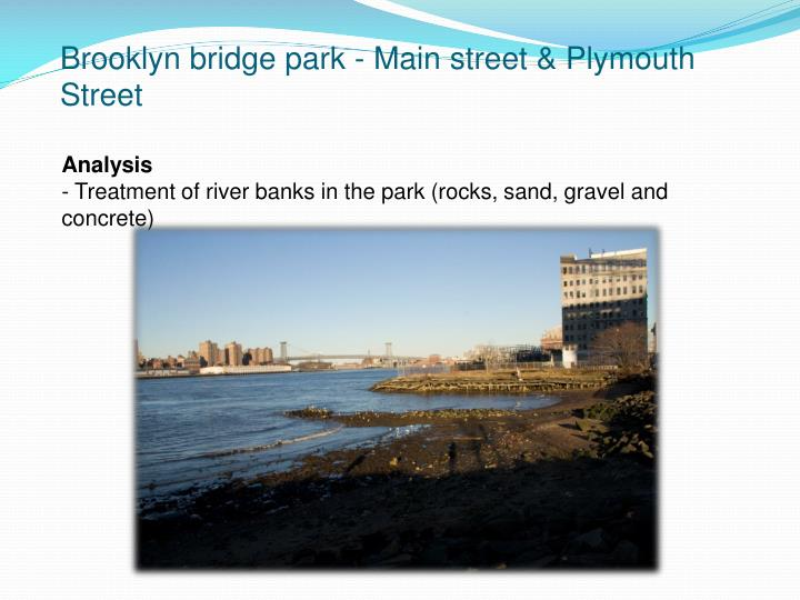 Brooklyn bridge park - Main street & Plymouth Street