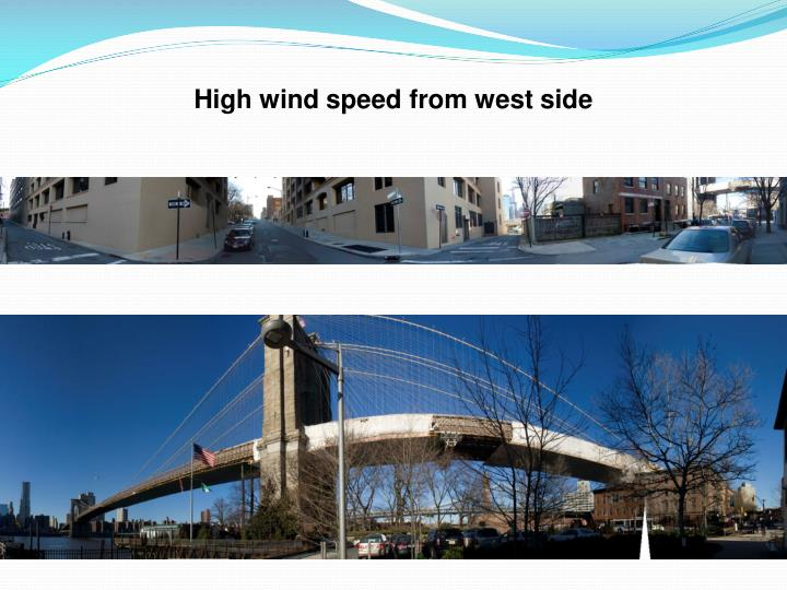 High wind speed