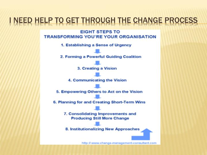 I need help to get through the change process
