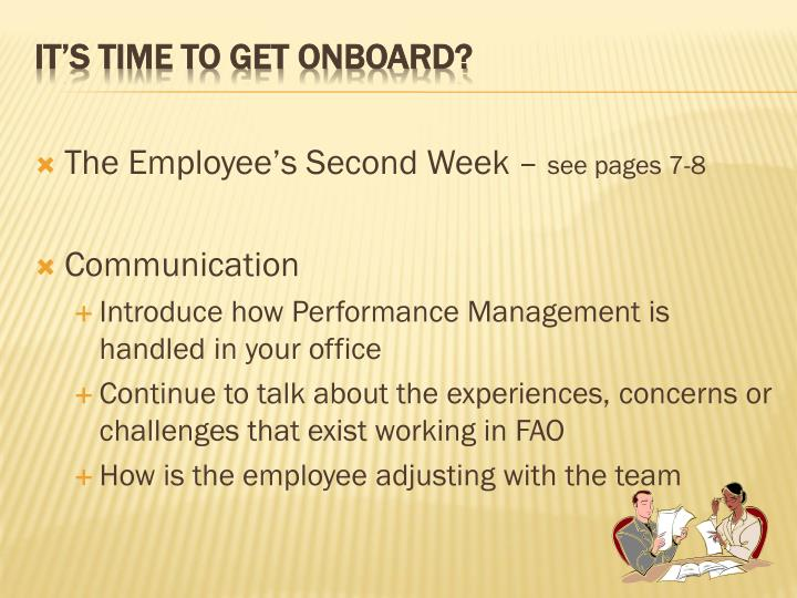 The Employee's Second Week –