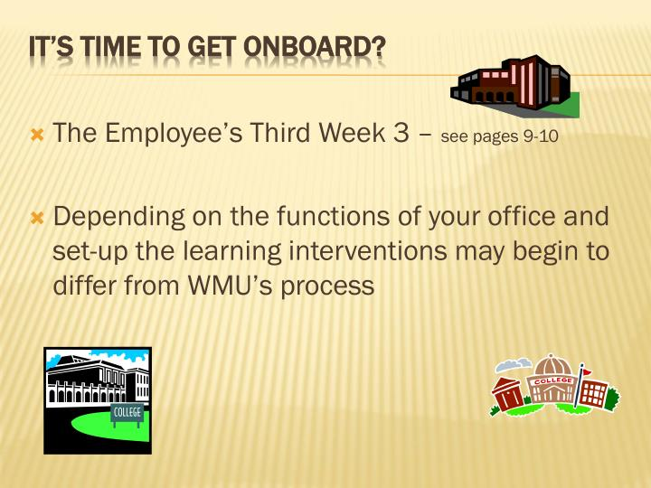 The Employee's Third Week 3 –