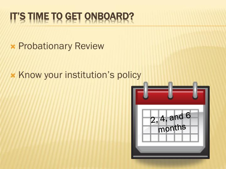 Probationary Review