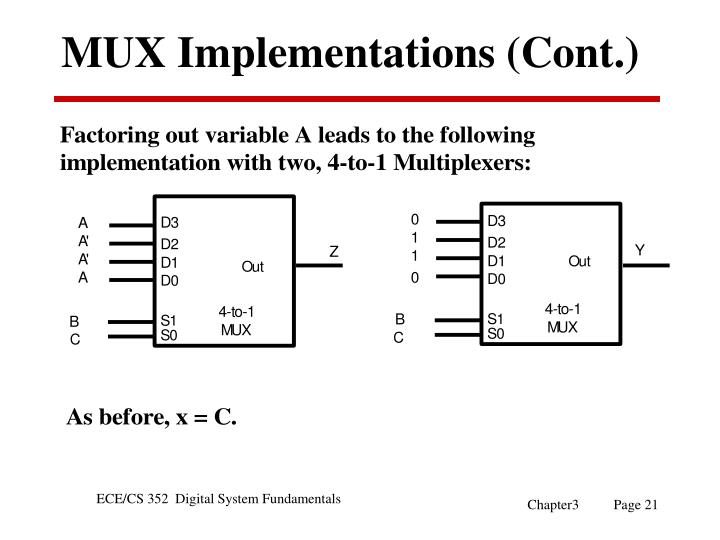 MUX Implementations (Cont.)