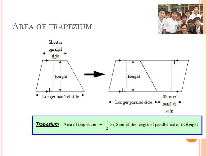 Area of trapezium
