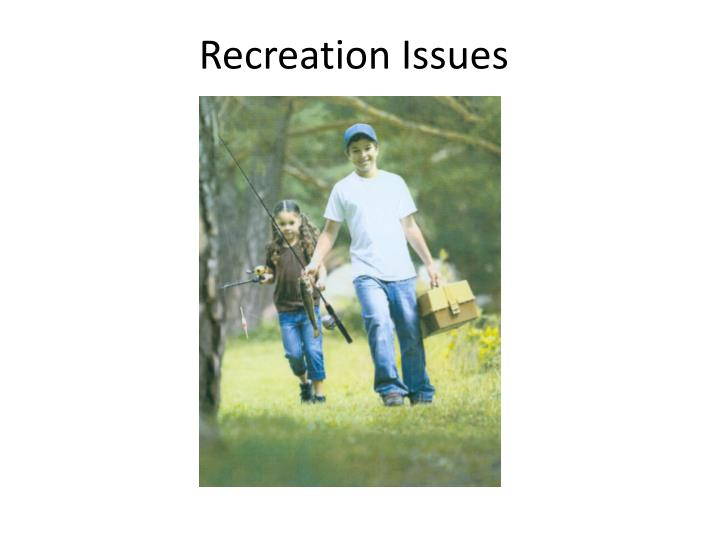 recreation issues n.