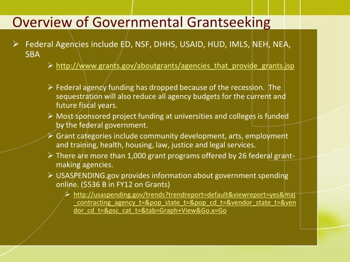 Overview of Governmental