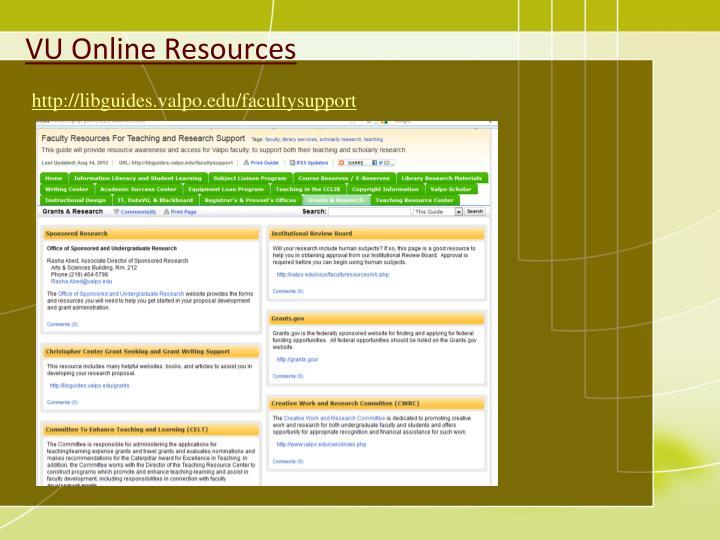 VU Online Resources