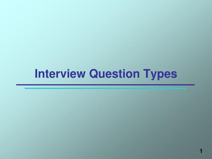 interview question types n.