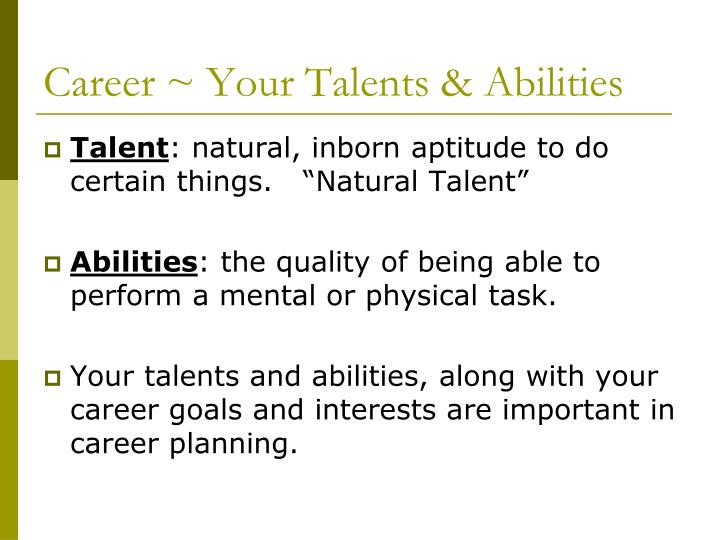 Career ~ Your