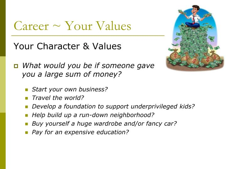 Career ~ Your Values
