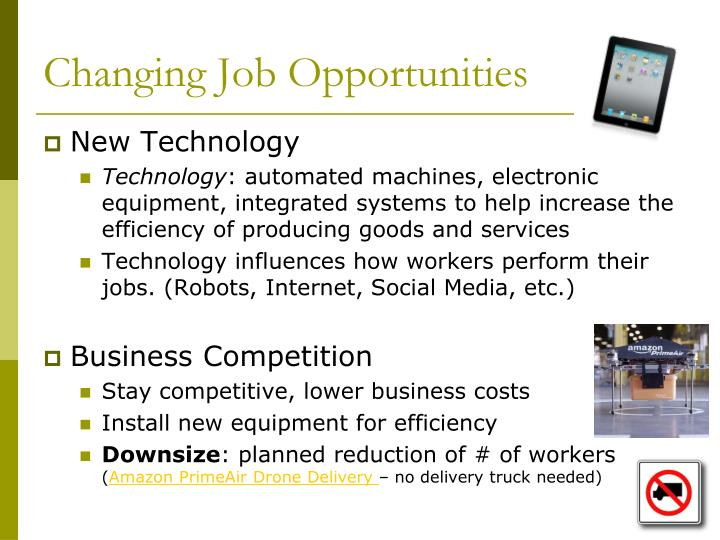 Changing Job Opportunities