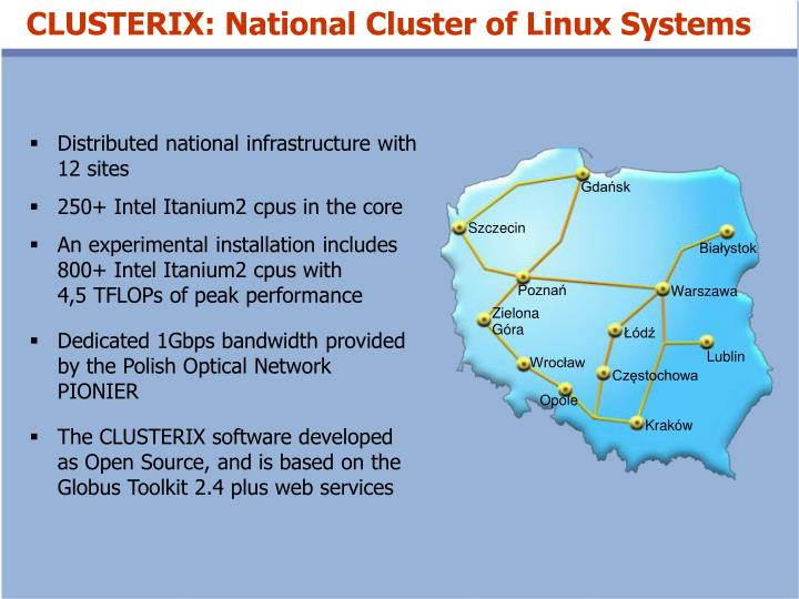 CLUSTERIX: National Cluster of Linux Systems