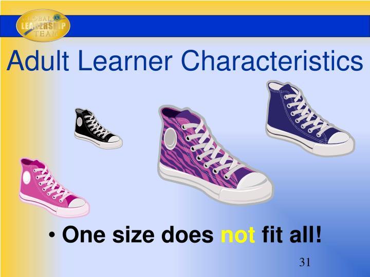Adult Learner Characteristics