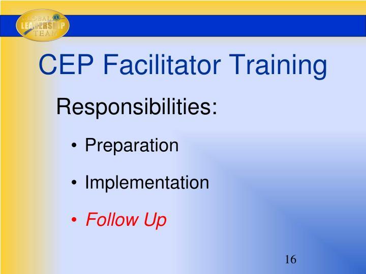 CEP Facilitator Training