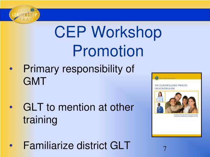 CEP Workshop Promotion