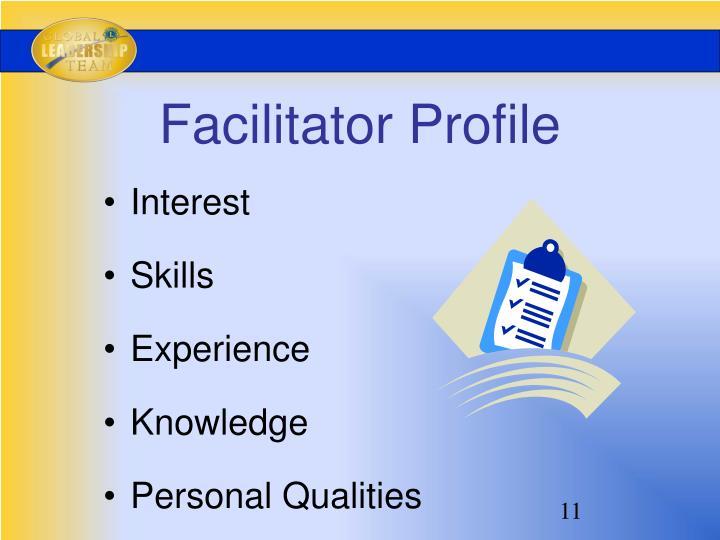 Facilitator Profile
