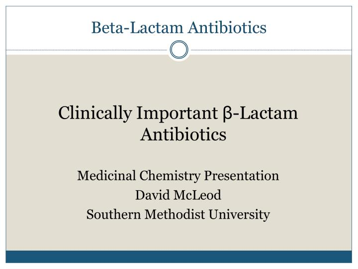 beta lactam antibiotics n.