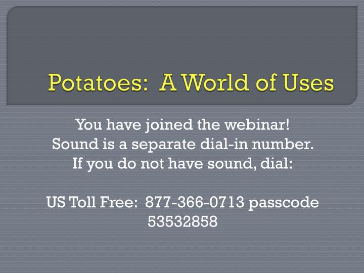 potatoes a world of uses n.