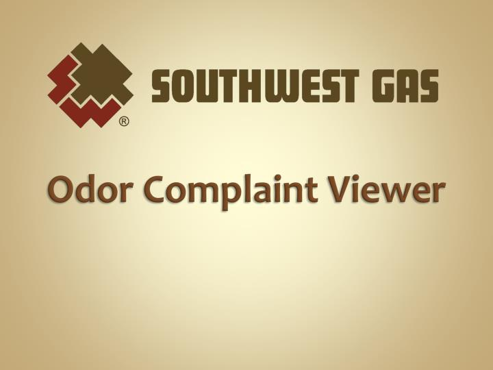 Odor Complaint Viewer
