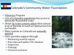 colorado s community water fluoridation