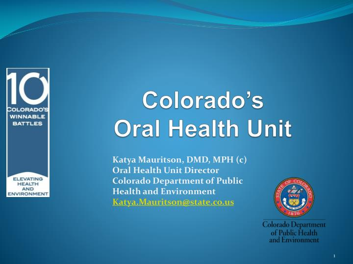 colorado s oral health unit n.