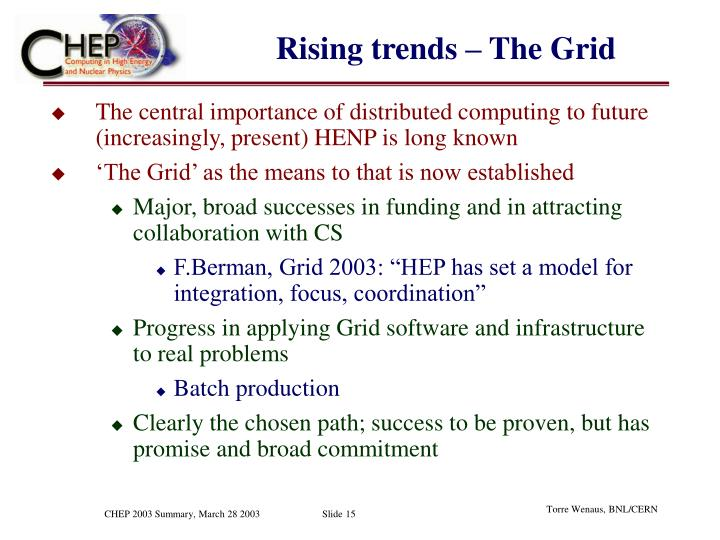 Rising trends – The Grid