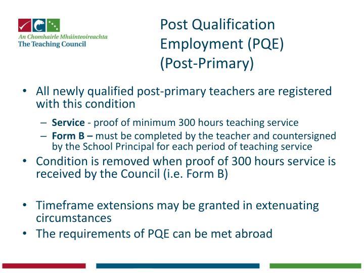 Post Qualification