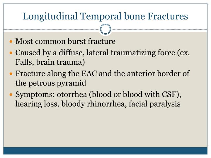 Longitudinal Temporal bone Fractures