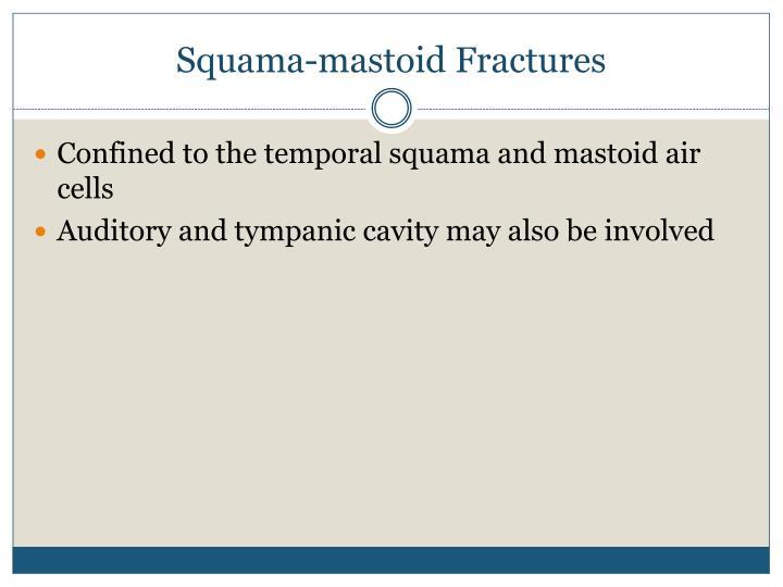 Squama-mastoid Fractures