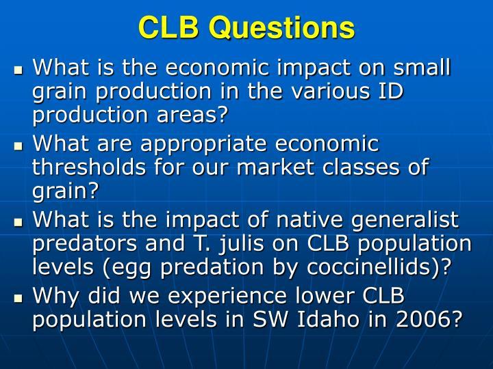 CLB Questions